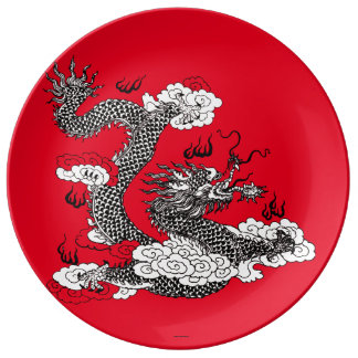Asian Dragon Plate