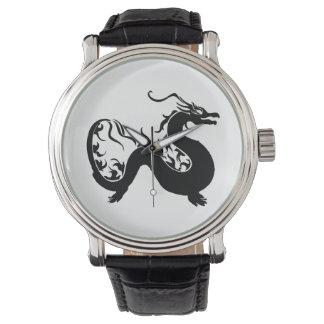 Asian Dragon Silhouette Watch