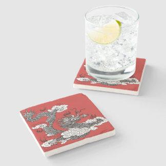Asian Dragon Stone Coaster