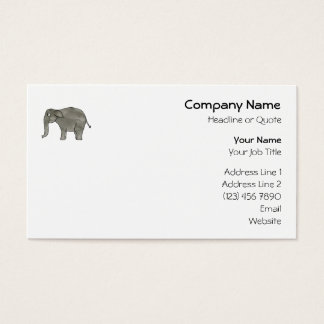 Asian Elephant. Business Card