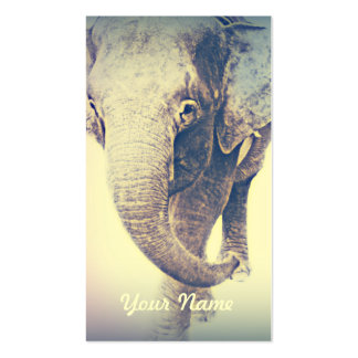Asian Elephant in Vintage Colors Business Card