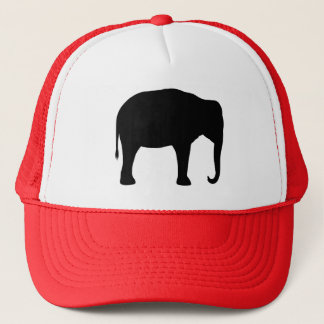 Asian Elephant Silhouette Trucker Hat