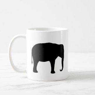 Asian Elephant Silhouettes Coffee Mug