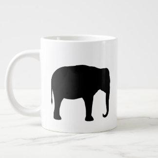 Asian Elephant Silhouettes Large Coffee Mug