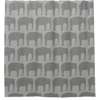 Asian Elephant Silhouettes Pattern
