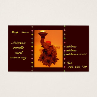 Asian elephants&flour&candle business card