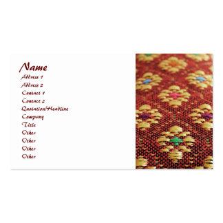 asian fabric business card templates