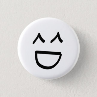 Asian Face 1 Inch Round Button
