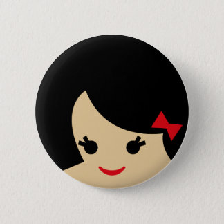 asian faces 1 2 inch round button