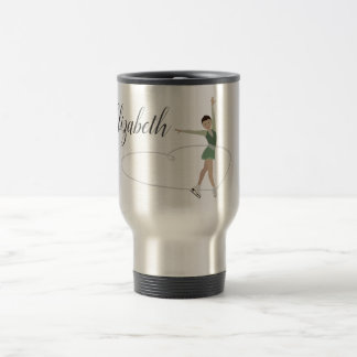 Asian Figure Skater Personalized Travel Mug