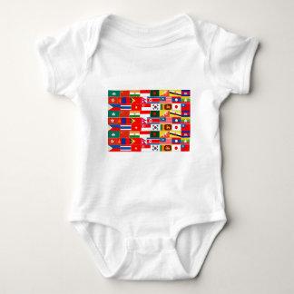 Asian Flags Baby Bodysuit