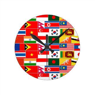 Asian Flags Clock