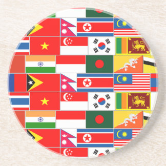 Asian Flags Drink Coaster