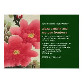 Asian Floral Wedding Invitation