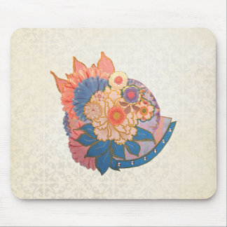 Asian Flower Collage art Mouse Pad