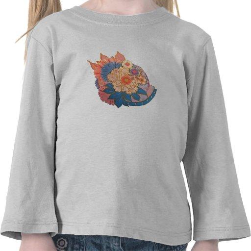 Asian Flower Collage art Tee Shirt
