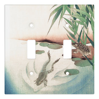 Asian Frogs Pond Bamboo Animals Light Switch Cover