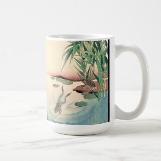Asian Frogs Pond Bamboo Wildlife Animals Mug