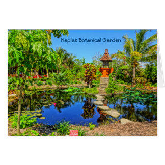 Asian Garden - Naples Botanical Garden Naples, FL Card
