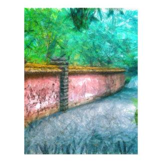 Asian Garden Wall Acadia Custom Letterhead