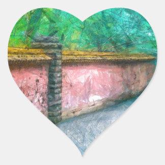 Asian Garden Wall Acadia Heart Sticker