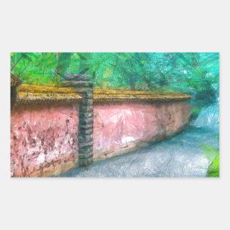 Asian Garden Wall Acadia Sticker