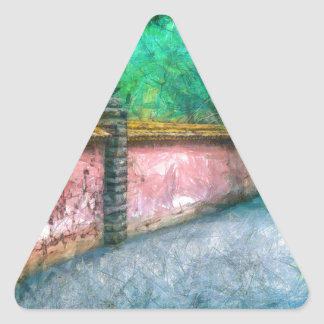 Asian Garden Wall Acadia Triangle Sticker