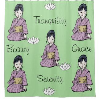 Asian Girl in Pink Mauve Kimono