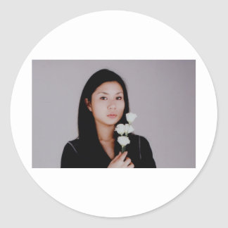 Asian Girl Movie Style Case Sticker