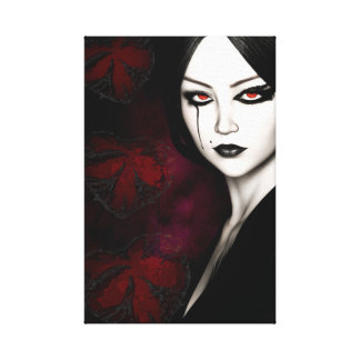 Asian gothic canvas print