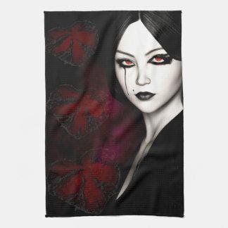 Asian gothic kitchen towel