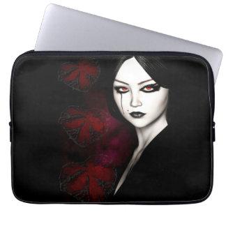 Asian gothic laptop sleeve