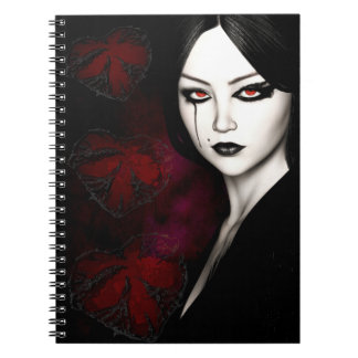 Asian gothic note books