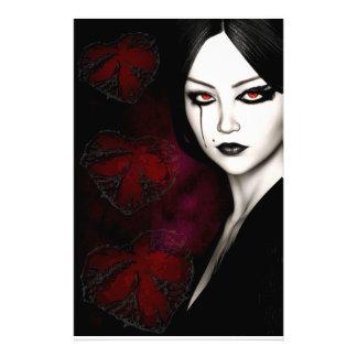 Asian gothic stationery