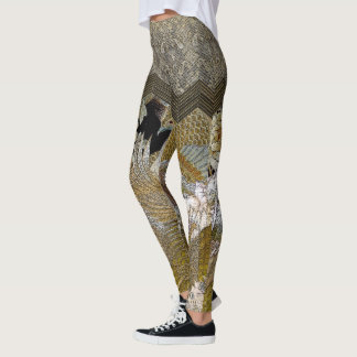 Asian Imperial Pheasant Ruffles Leggings