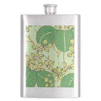 Asian Jaopanese Art Print Design Pattern Hip Flask