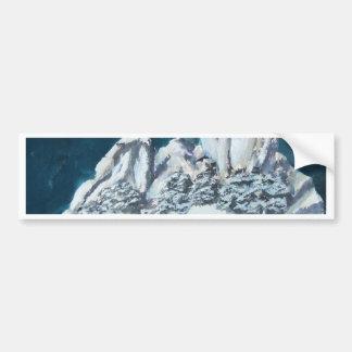 Asian landscape sculpture bumper sticker