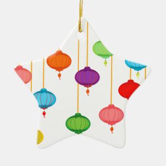 asian lanterns ceramic star ornament