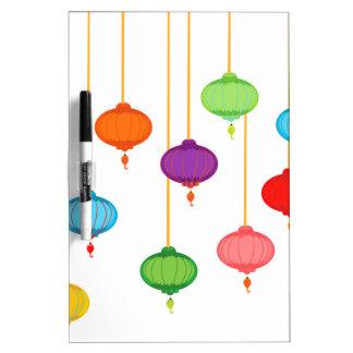 asian lanterns dry erase board