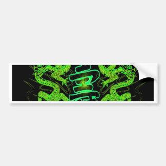 Asian Long Life Green Dragon Bumper Sticker