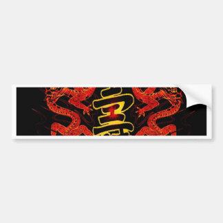 Asian Long Life Red Dragon Bumper Sticker