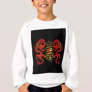 Asian Long Life Red Dragon Sweatshirt