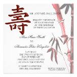 Asian LONGEVITY Symbol Chinese Birthday invitation