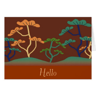 Asian-Look Tree Note Card