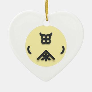 Asian looking design ceramic ornament
