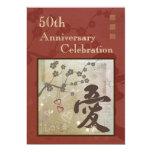"Asian Love Anniversary Party Invitation 5"" X 7"" Invitation Card"
