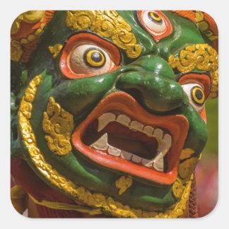 Asian Masked Dancer Square Sticker