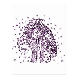 asian mehndi-Wedding Postcard
