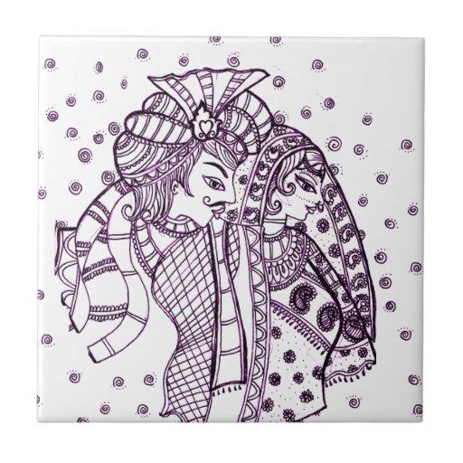 asian mehndi-Wedding Tiles