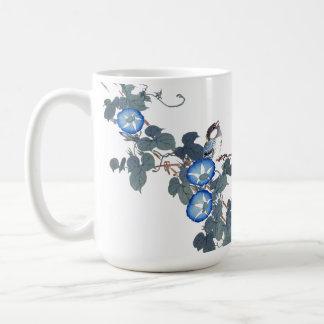Asian Morning Glory Flowers Birds Mug